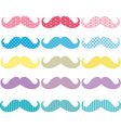 Colorful Mustaches Pattern Collections vector image