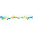 colorful splash horizontal design vector image