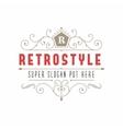 Retro vintage ornamental logo calligraphic vector image