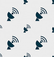 Satellite antenna icon sign Seamless pattern with vector image
