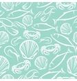 seamless marine pattern vector image