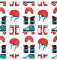 seamless pattern with roller derby vector image