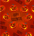 Seamless texture Happy Halloween with pumpkins vector image