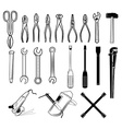 tools collection in vector image