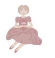 vintage girl vector image