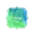 Watercolor label design element vector image