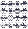 Weather icons isolated on white background set vector image