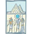 Hieroglyph Pyramids vector image vector image