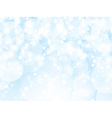 Snowflakes and stars background vector image vector image