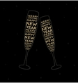 New Year glasses vector image