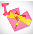 Origami paper I love Spain heart card vector image vector image