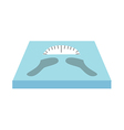 weighing machine vector image vector image
