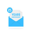 25 years anniversary icon in blue letter vector image