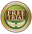 Free Trial Green Emblem vector image vector image