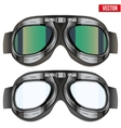 Retro aviator pilot glasses goggles Isolated on vector image
