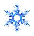 origami snowflake vector image vector image