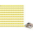 Steel measure tape vector image
