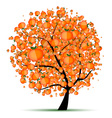 Energy citrus tree for your design vector image
