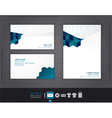 Abstract set of envelopes corporate vector image