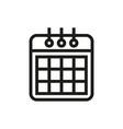 calendaricon on white background vector image