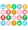 ecological colorful labels collection on white vector image