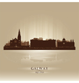 Galway Ireland skyline city silhouette vector image