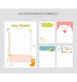 Cute Daily Calendar Template vector image