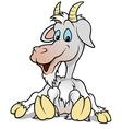 Sitting Goat vector image