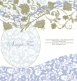 Abstract floral and swirl invitation card vector image vector image