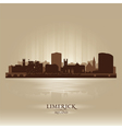 Limerick Ireland skyline city silhouette vector image vector image