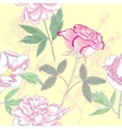 Seamless pattern with rose and peonies vector image