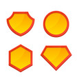 blank superhero logo template set vector image