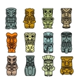 Tribal ethnic masks and totems vector image vector image