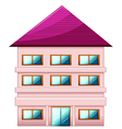 A big three-story house vector image