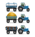 Agricultural Tractor Set 4 vector image