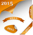 New Year orange card web element vector image vector image