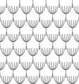 Seamless blackwhite dandelion pattern vector image