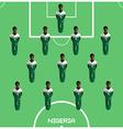 Computer game Nigeria Football club player vector image