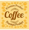 Vintage retro coffee badge on wooden panel vector image