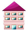 A big three-story house vector image