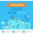 Business flat line concept with thin icons vector image