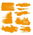 Hand-drawing orange textures vector image