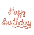 Happy Birthday Isolated Sweet Candy Text vector image