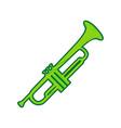 musical instrument trumpet sign lemon vector image