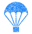 parachute grunge icon vector image