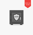 Safe with shield icon Security protection concept vector image