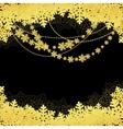 snwoflakes black background vector image