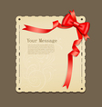 Red ribbons and paper vector image vector image