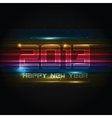 Futuristic New Year background vector image