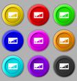 Volume adjustment icon sign symbol on nine round vector image
